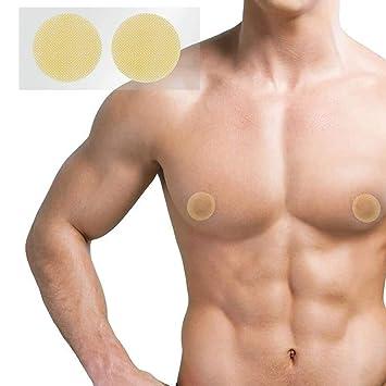 Men rubbing nipples