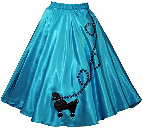 3 BIG NOTES Adult Satin Poodle Skirt Size Small (25