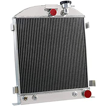 "NEW 3 ROW//CORE ALUMINUM RADIATOR FORD MODEL-CHEVY ENGINE CHOPPED 3/"" 1937-1938"