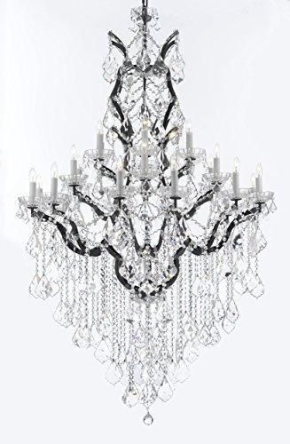 Swarovski Crystal Trimmed 19th C. rococó de hierro y cristal ...