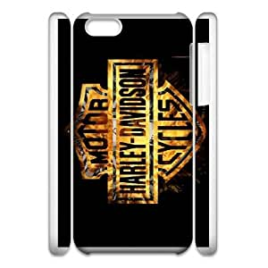 Pattern Hard Case Cover iphone5c 3D Cell Phone Case White Harley Davidson Mrtuc Back Skin Case Shell