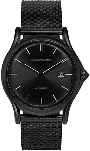 Emporio Armani Swiss Made Men's Automatic Stainless Steel Dress Watch, Color:Black (Model: ARS3014) (Sonnenbrille Emporio Armani)