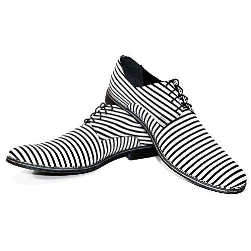 Cuir Modello des Vachette Souple Handmade de Cuir Chaussures Blanc Hommes Cuir Zebro Lacer pour Italiennes Oxfords qwFORUrq