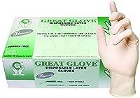 GREAT GLOVE Latex Powder-Free Premium 5-5.5 mil General Purpose Glove, X-Small, Natural