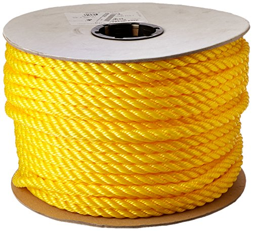 Cordage Source Twisted Poly Rope, 1/2-Inch by 300-Feet, Yellow