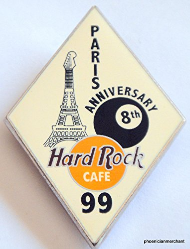 8th-anniversary-white-rhombic-8-ball-pin-hard-rock-cafe-paris-france
