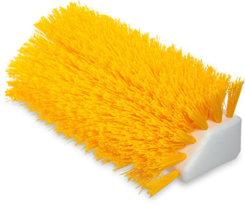 Carlisle 4042304 Hi-Lo Floor Scrub Brush, Yellow (Pack of 12) by Carlisle