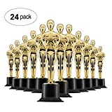 Prextex 6'' Gold Award Trophys for Award Ceremony's or Party (24 Pack)