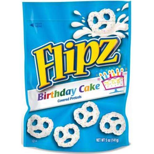 Flipz Birthday Cake Coated Pretzel, 5 Ounce - 6 per case. by Flipz
