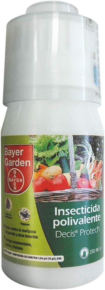 Protect Garden Decis Protech - Insecticida polivalente concentrado para ornamentales, frutales y horticolas, pulgones y orugas, 250ml