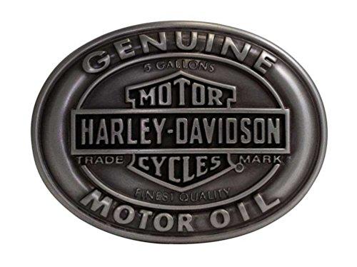 Harley-Davidson Men's Belt Buckle Genuine Motor Oil Bar & Shield HDMBU10662 (Harley Belt Buckles)