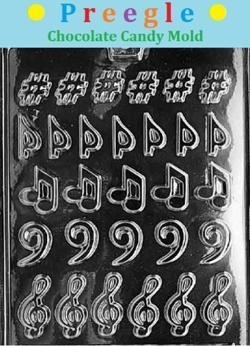 PLP-J006 Music Notes & Clefs Chocolate Candy Mold
