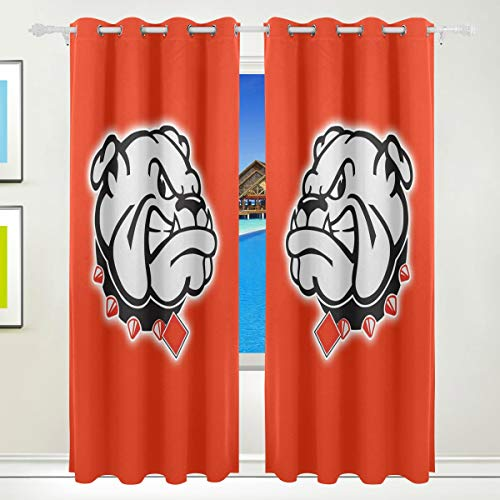 - SHELLBOY Creative Dog Living Room Window Curtain Blackout 84 Inch Length 2 Panels,84 by 55 in,Polyester,Block Out 80% Light
