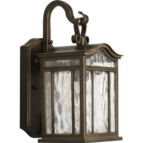 Meadowlark One Light Small Outdoor Wall Lantern in Oil Rubbe