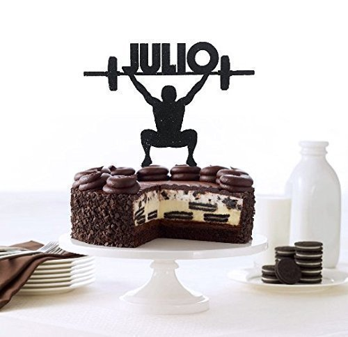 Crossfit Cake Topper Custom Name Trainer Cake Topper Bodybuilder