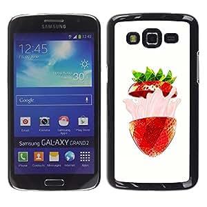 Be Good Phone Accessory // Dura Cáscara cubierta Protectora Caso Carcasa Funda de Protección para Samsung Galaxy Grand 2 SM-G7102 SM-G7105 // Strawberry Burst Flavor Summer Red