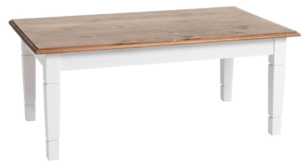 super populaire eae21 1ba0e Jysk Table basse Ryslinge 65 x 110 Blanc/marron: Amazon.fr ...