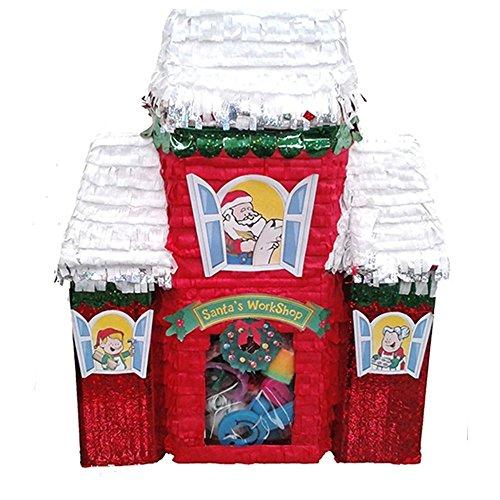 Pinatas Santa's Workshop Christmas Decoration, Party Game and Photo Prop