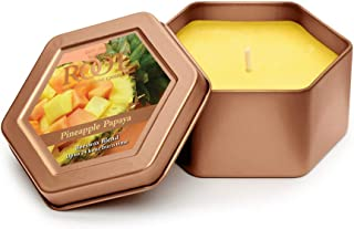 product image for Root Candles Honeycomb Traveler Scented Beeswax Blend Candle, Pineapple Papaya