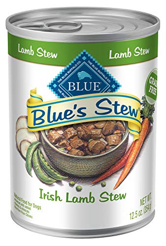 Blue Buffalo Blues Stew Natural Adult Wet Dog Food, Irish Lamb Stew 12.5-oz can (Pack of 12)