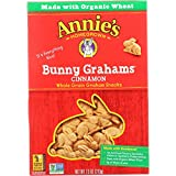 Annies Homegrown Graham Snacks - Organic - Bunny Grahams - Cinnamon - 7.5 oz - 1 each (Pack of 3)