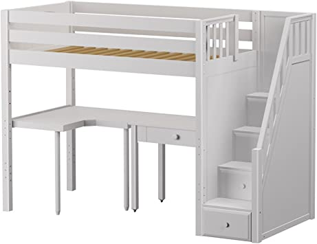 Maxtrix Great Storage Low Loft Bed With Stairs Desk Matrix