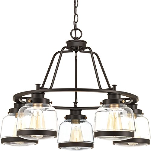 Antique Bronze 5 Light Pendant Chandelier