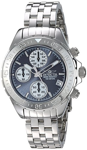Invicta Women's 'Aviator' Quartz Stainless Steel Casual Watch, Color:Silver-Toned (Model: 21650)