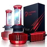 LIGHTENING DARK H7 LED Headlight Bulbs Conversion Kit, CREE XPL 6K Cool White,7200 Lumen - 3 Yr Warranty