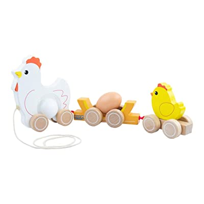 N/X Toddler Wooden Hand The Trailer Cars Cartoon Education Outdoor Toys Set: Toys & Games