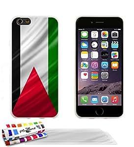 Carcasa flexible Ultrafina Blanca Original de MUZZANO estampada Palestina Bandera para APPLE IPHONE 6 + 3 películas de protección UltraClear para la pantalla