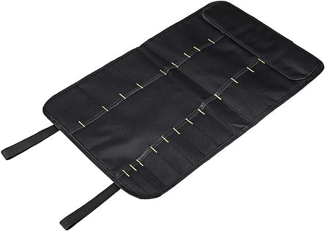 joyMerit 22 Bolsillos Duradero Chef Cuchillo Roll Bag Estuche De Transporte Herramienta De Almacenamiento De Cocina Negro: Amazon.es: Hogar