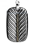 David Yurman Amazing St.silver Champagne Diamonds Necklace Dog Tag Pouch # 117