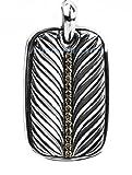David Yurman Amazing St.silver Champagne Diamonds Necklace Dog Tag Pouch # 117