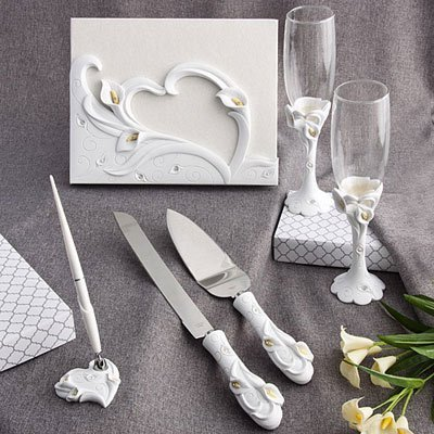 Calla Lily Design Complete Wedding Accessory Set by Fashioncraft