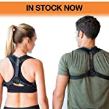 Posture Corrector for Women and Men, Comfortable Fully Adjustable, Clavicle Support for Back and Neck, Medical Orthopedic Brace, Easy to Use for Pain Relief.