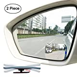 #6: Slim Square 360 Degree Rotate + Sway Adjustabe Blind Spot Mirror, Ampper HD Glass Convex Wide Angle Rear View Car SUV Universal Fit Stick On Lens (Pack of 2)