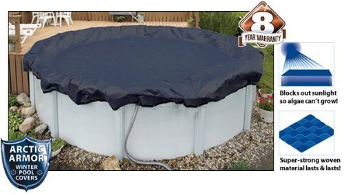 Bronze Arctic Armor Winter Cover for 18ft x 38ft Oval Above Ground Pool by Splash Net Express
