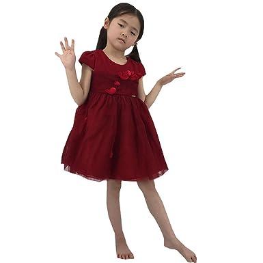 995cb6095eee46 kleider mädchen Kinderkleidung Rotes Kleid Gute Qualität Kinder Party  Kleider für mädchen 3-11 Jahre