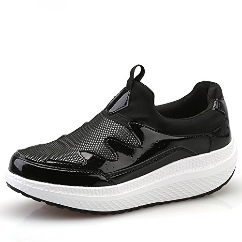 Cybling Lows Loafer Zapatos Para Mujer Plataforma De Moda Walking Athletic Travel Sneakers Black
