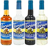 mint pie - Torani SugarFree Holiday Syrup 4 Pack (25.4 Ounce Bottles), Sf Pumpkin Pie, Sf Peppermint, Sf Chocolate and Sf Vanilla