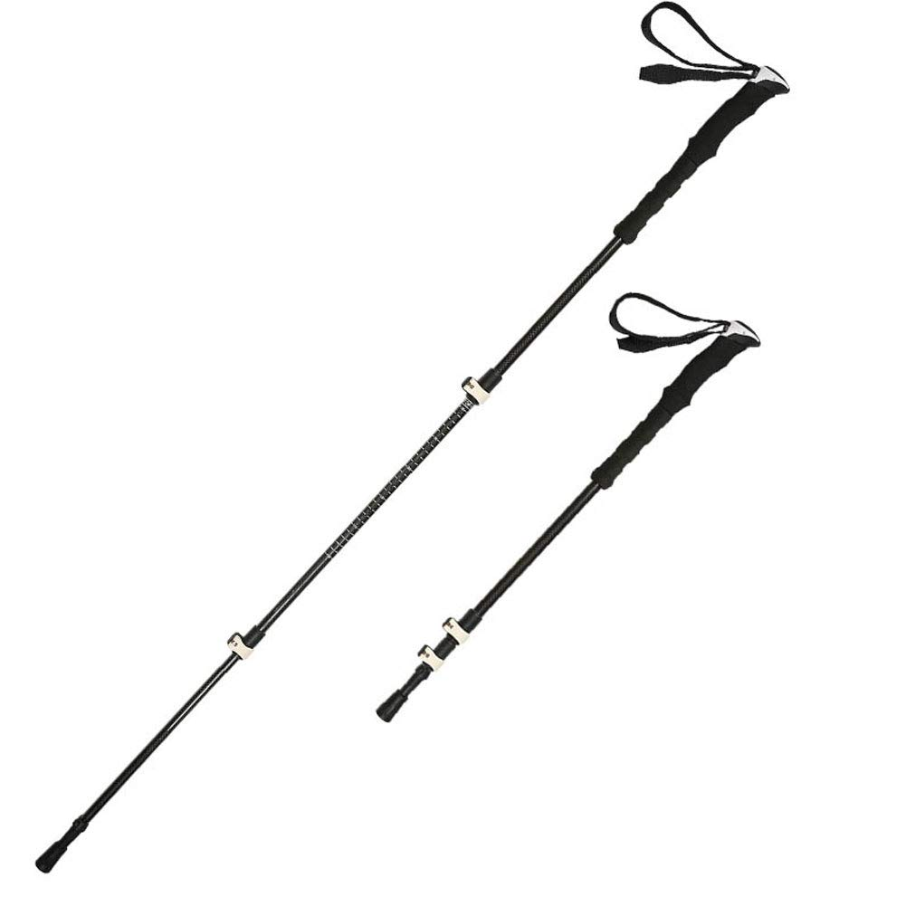 Outdoor Trekking Pole Carbon Folding Multi-Function Carbon Fiber Telescopic Lock Ultra Light Hiking Climb Equipment Cane
