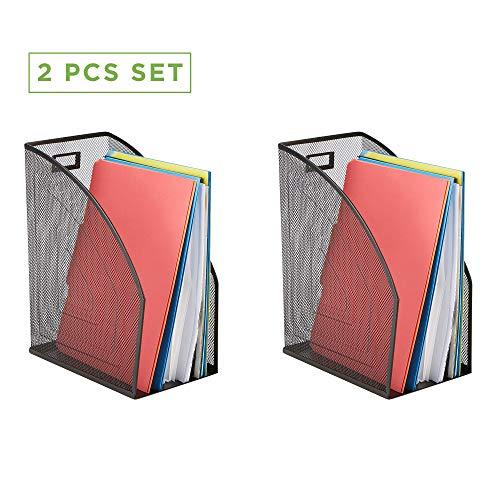 [해외]마인드 리더 피스 메쉬 홀더 사무실 책상 액세서리 장식 파일 박스 튼튼한 잡지 정리함 블랙 / Mind Reader JMAG2-BLK 2 Piece Jumbo, Mesh Holder, Office Desk Accessories Decorative File Box, Sturdy Magazine Organizer, Black