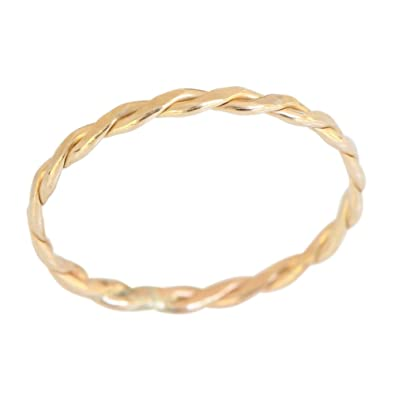 Amazon Gold Filled Braid Band Thumb Ring 14k Gold Thumb