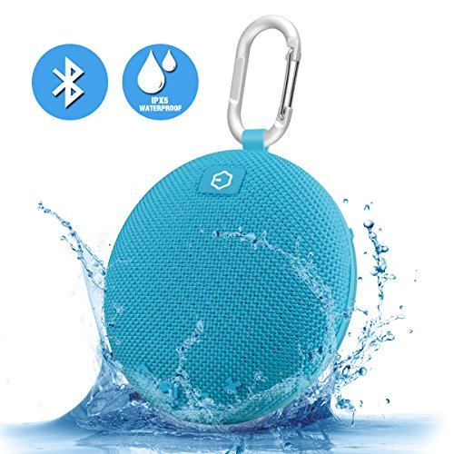 Portable Speaker,Ozzie Wireless Stereo Bluetooth 4.0 Travel Outdoor Sport Waterproof Bluetooth Speaker Indoor Shower Mini Speaker for iPhone,Android with Carabiner - Handsfree Calling,5+ Hours (Blue)