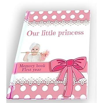 Amazon.com: Primer año bebé niña libro de recuerdos para ...