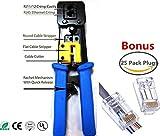 cat6 platinum tools - EZ RJ45 Crimp Tool for RJ-11, RJ-12 and RJ-45 - Bonus CAT6 Connector 25 Pack