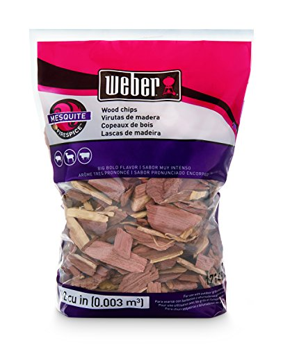 Weber Mesquite Wood (Weber-Stephen Products 17149 Mesquite Wood Chips, 192 cu. in. (0.003 cubic meter))