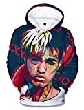 SIMYJOY ENJOY THE SIMPLICITY SIMYJOY Unisex RIP Xxxtentacion Hoodie 3D Print Street Rap Sweatshirt Cool Hip Hop Pullover 3XL