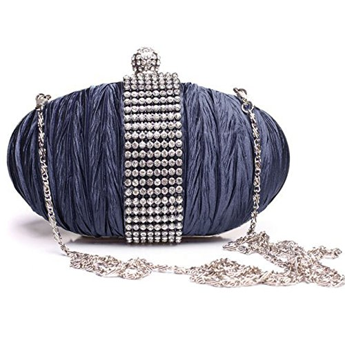 Navy HAND BRIDAL PURSE BAG PARTY BLING CLUTCH EVENING fi9 LADIES DIAMANTE PROM HANDBAG xq7OwZ8X